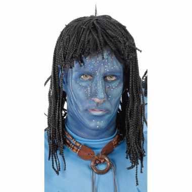Aboriginal pruik heren zwarte dreads carnaval