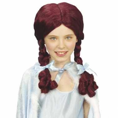 Alice vlechtjes pruik kids carnaval