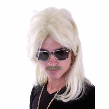 Blonde herenpruik carnaval