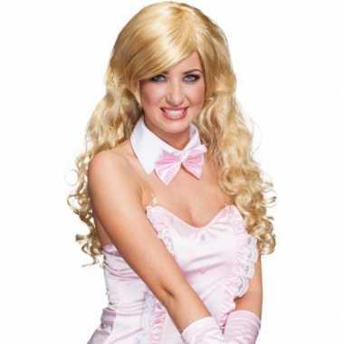 Blonde zeemeerminnen pruik carnaval
