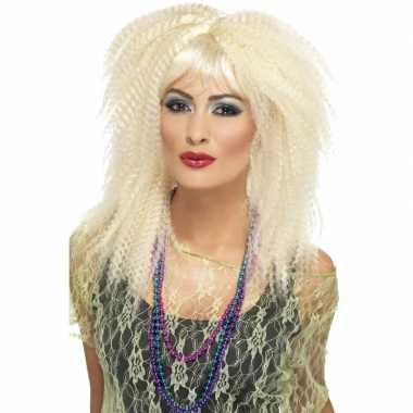 Blondes thema pruik carnaval