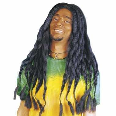 Bob marley pruik zwarte dreads carnaval