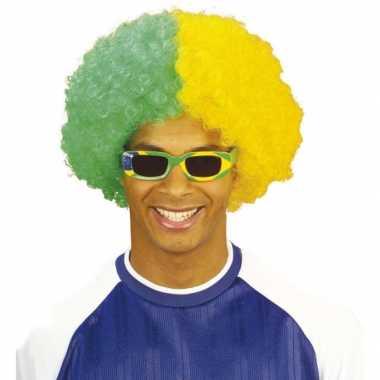 Braziliaanse supporters pruik carnaval
