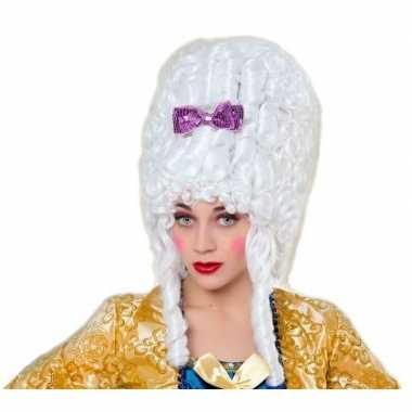Carnaval dames pruik hofdame wit
