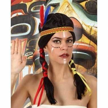 Carnaval indianen pruik dames