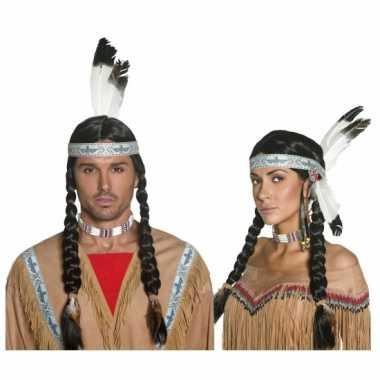 Carnaval pruik native indian