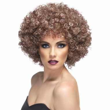 Donker blonde afropruik carnaval