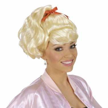 Feestpruik sandy dames carnaval