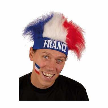 Frankrijk supporters pruiken carnaval