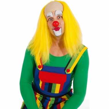 Gele clown pruiken carnaval