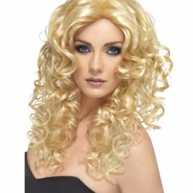 Glamour pruik blond carnaval