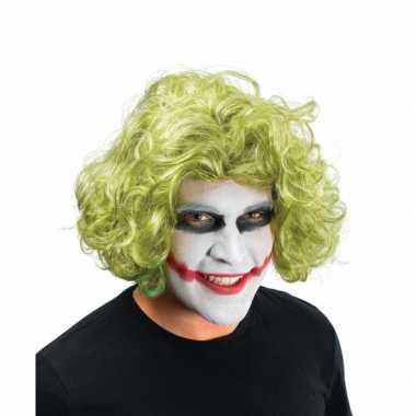 Groene The Joker pruik carnaval