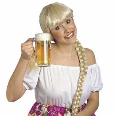 Heidi damespruik blond uit Beieren carnaval