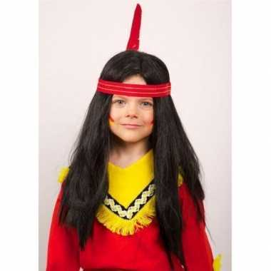 Indiaan pruiken lang haar kinderen carnaval