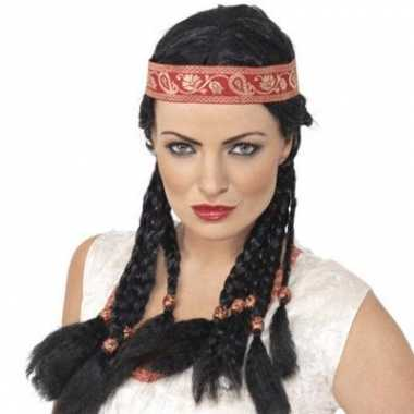 Indianen pruik dames carnaval