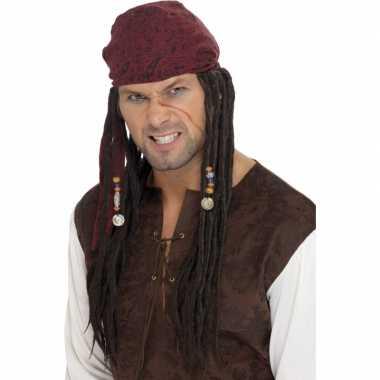 Jack Sparrow piratenpruiken carnaval