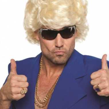 Jaren pruik mannen blond carnaval