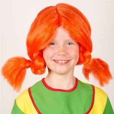 Kinderpruiken sterk zweedsm eisje rood carnaval