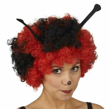 Lieveheerstbeestjes dames pruik carnaval