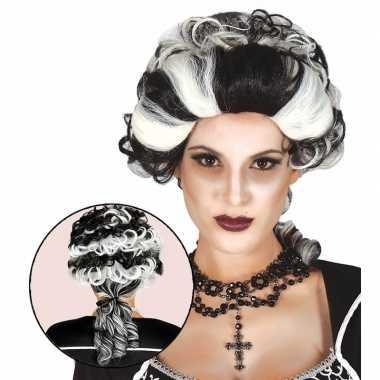 Markiezin draculapruik dames carnaval