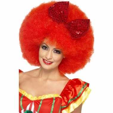 Mega clowns pruik strikje carnaval