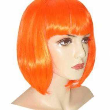 Oranje damespruik Bob carnaval
