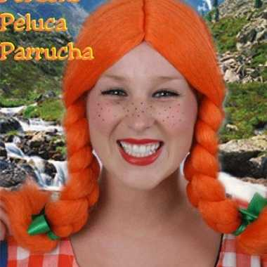 Oranje damespruik Greetje carnaval