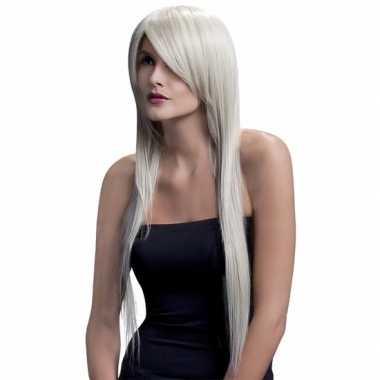 Professionele damespruiken lang blond stijl haar carnaval