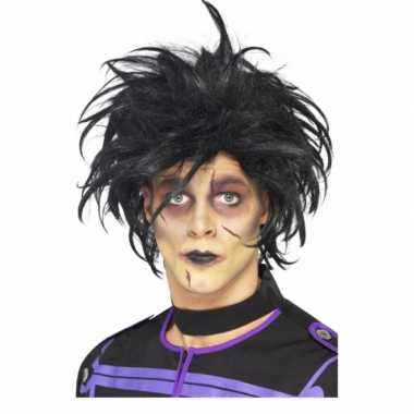 Psycho pruik zwart volwassenen carnaval