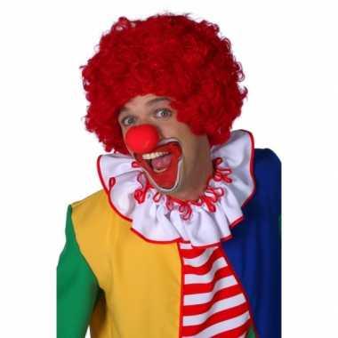 Rode clowns pruik carnaval