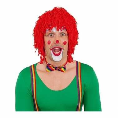Rode clownspruiken wol carnaval