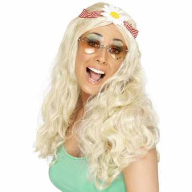 Sixties hippie damespruiken carnaval