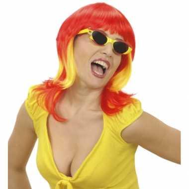 Spaanse fan pruik dames carnaval
