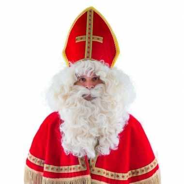 St nicolaas pruik baard snor carnaval