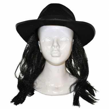 Thriller pruik hoed carnaval