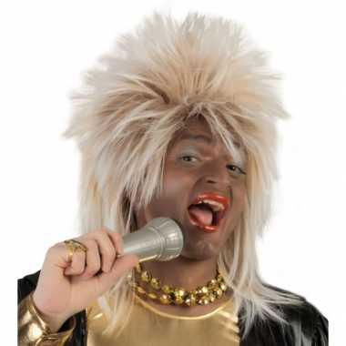 Travestie rock star pruik blond carnaval