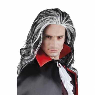 Vampier pruik grijs volwassenen carnaval