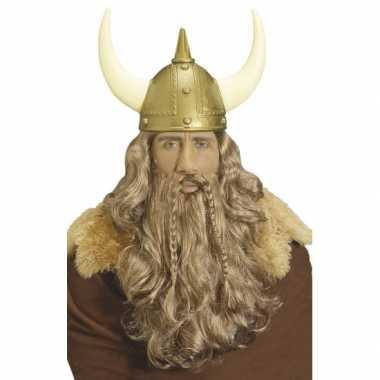 Vikingen pruik baard snor carnaval