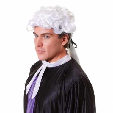 Witte heren pruik barok carnaval
