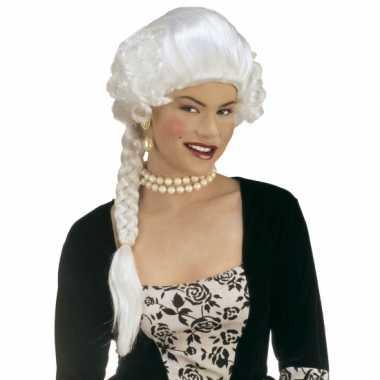 Witte prinsessen pruik carnaval