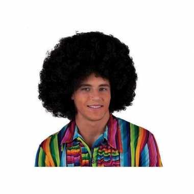 Zwarte afro pruiken carnaval