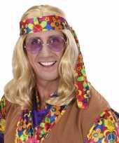 Blonde john pruik mannen carnaval