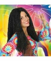 Carnaval hippie flower power pruik dames 10132695