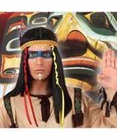 Carnaval indianen pruik heren 10132852