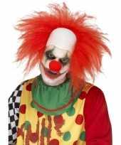 Clown pruik rood volwassenen carnaval