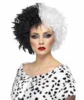 Cruella pruik dames carnaval