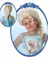 Elsa pruik blond meiden carnaval