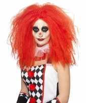 Feest rode krullen afro pruik volwassenen carnaval 10121251