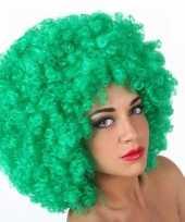 Groene krullen pruiken carnaval