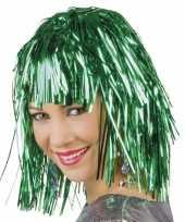 Groene party pruiken carnaval